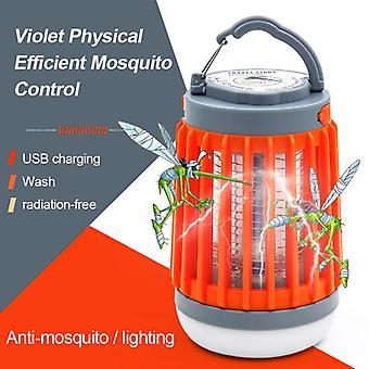 רוצח יתושים סולארית הלם חשמלי מנורה בית עמיד למים USB טעינה תאורת יתושים לוכד השתקה יתוש דוחה