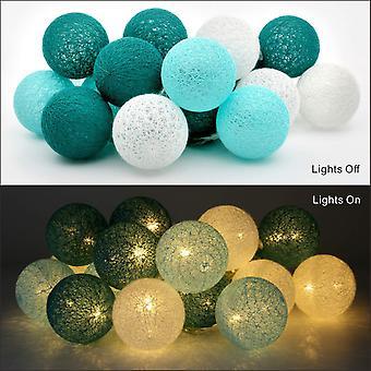 Portable Led Light Garland For Interior 3.1 M 20 White Cotton Balls Decoration