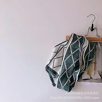 Simple Wind Children's Versatile Diamond Lattice Knitting Winter Baby Warm Solid Color Skin-friendly Scarf
