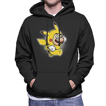 Pika pak Super Mario Pikachu Pokemon mannen Hooded Sweatshirt