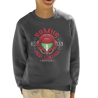 Metroid Samus Pest Control Kid's Sweatshirt