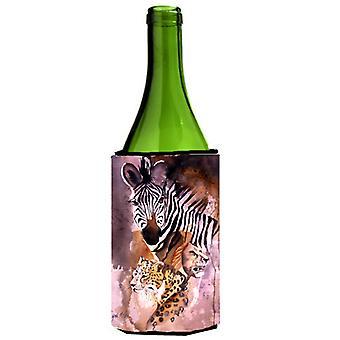 Cheetah, Lion, and Zebra Wine Bottle Beverage Insulator Hugger