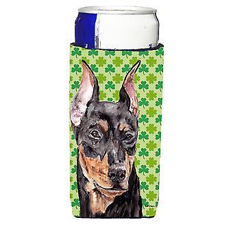 German Pinscher Lucky Shamrock St. Patrick's Day Ultra Beverage Insulators for s