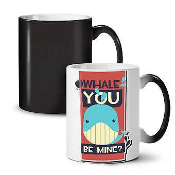 Will You Be Mine Funny NEW Black Colour Changing Tea Coffee Ceramic Mug 11 oz | Wellcoda