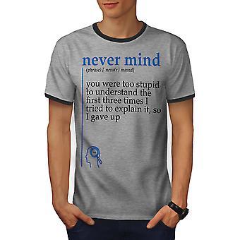 Geschweige denn Männer Heather Grey / Heather dunkles GreyRinger T-shirt | Wellcoda