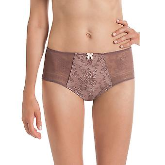 Rosa Faia 1355-769 Women's Fleur Berry Pink Floral Lace Full Panty Highwaist Brief