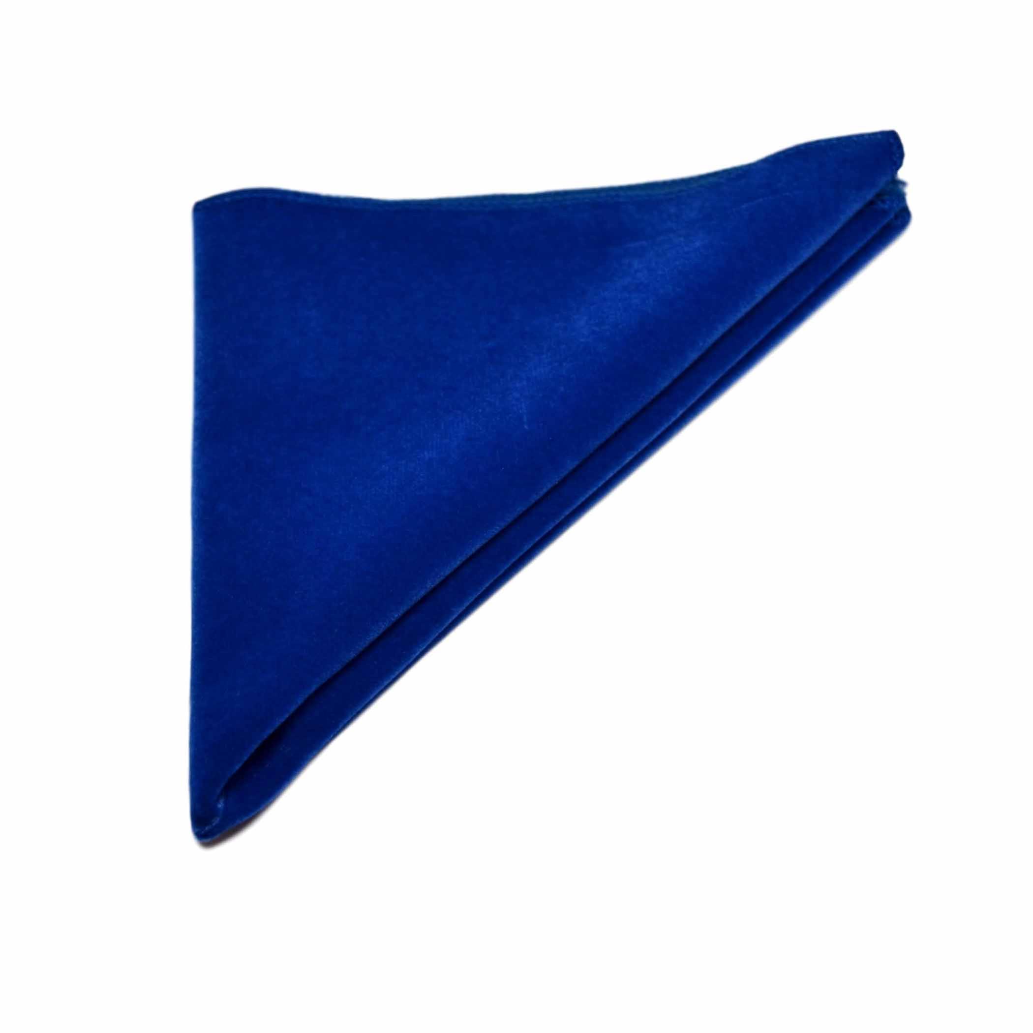 Royal Blue Velvet Bow Tie & Pocket Square Set