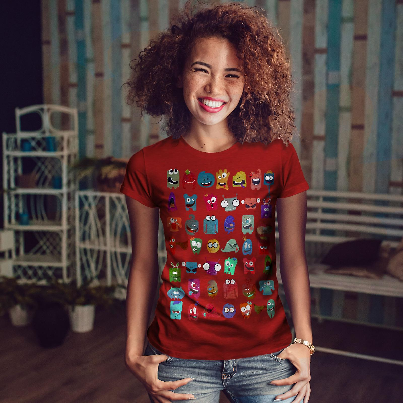 Femmes folles d'impression idiote RedT-chemise | Wellcoda