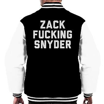 Zack Fucking Snyder Men's Varsity Jacket