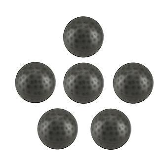 6 Stück Antik Silber-Finish Grübchen Metall Dekor Ball Set 3 Zoll