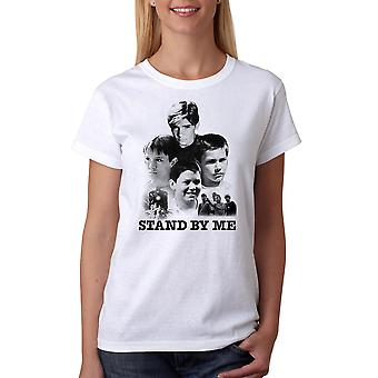 Stand By Me Poster Collage Women's White T-shirt