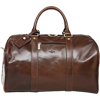 S Babila Leather Duffel Holdall Bag Hand Luggage Cabin Size