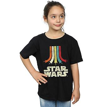 Star Wars ragazze retrò Rainbow t-shirt