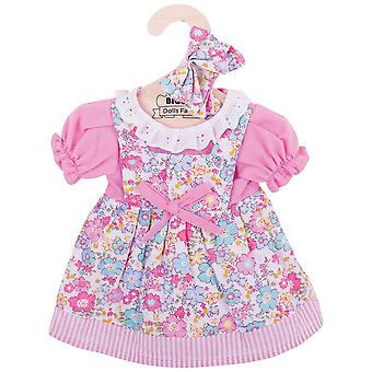 Bigjigs Toys Pink Floral Rag Doll Dress (38cm) Kleidung Outfit Dress Up