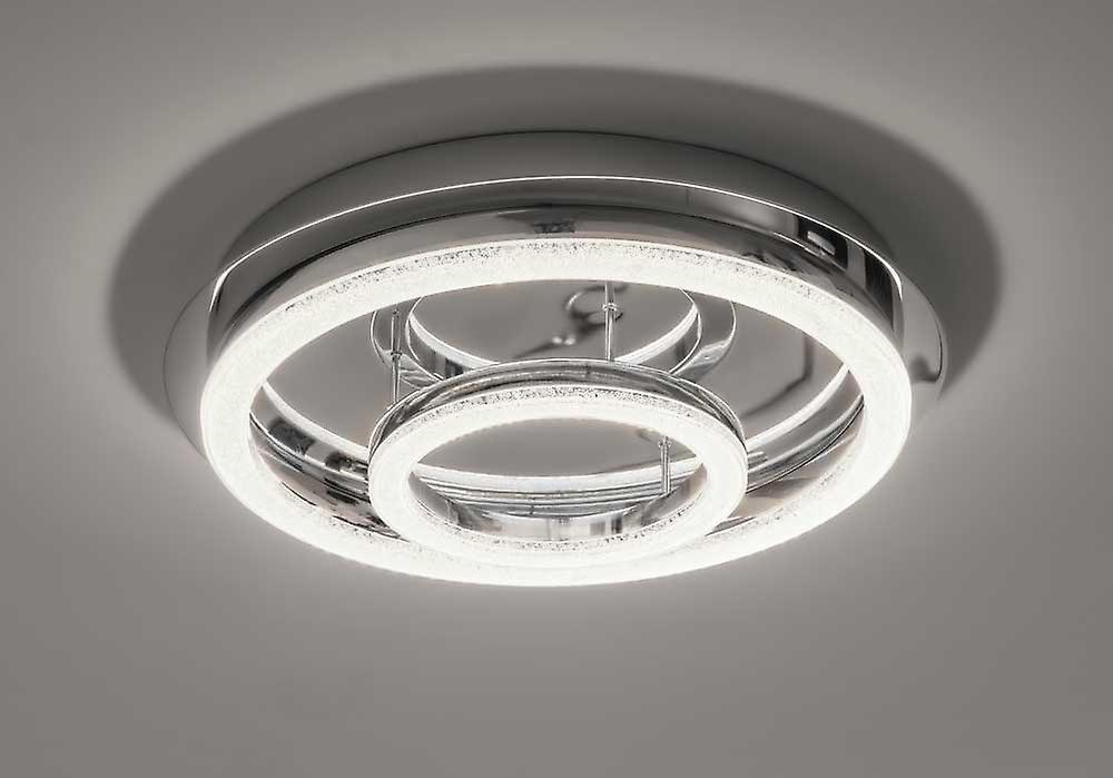 Icke gamla LED taklampa Crilou RO-L Ø50cm Crystal diffusor 36W 4000 K chrome OI-91