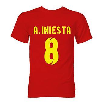 T-shirt Barcelone Andres Iniesta Hero (Red)