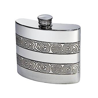 Standard Kells Kidney Pewter Flask - 6oz