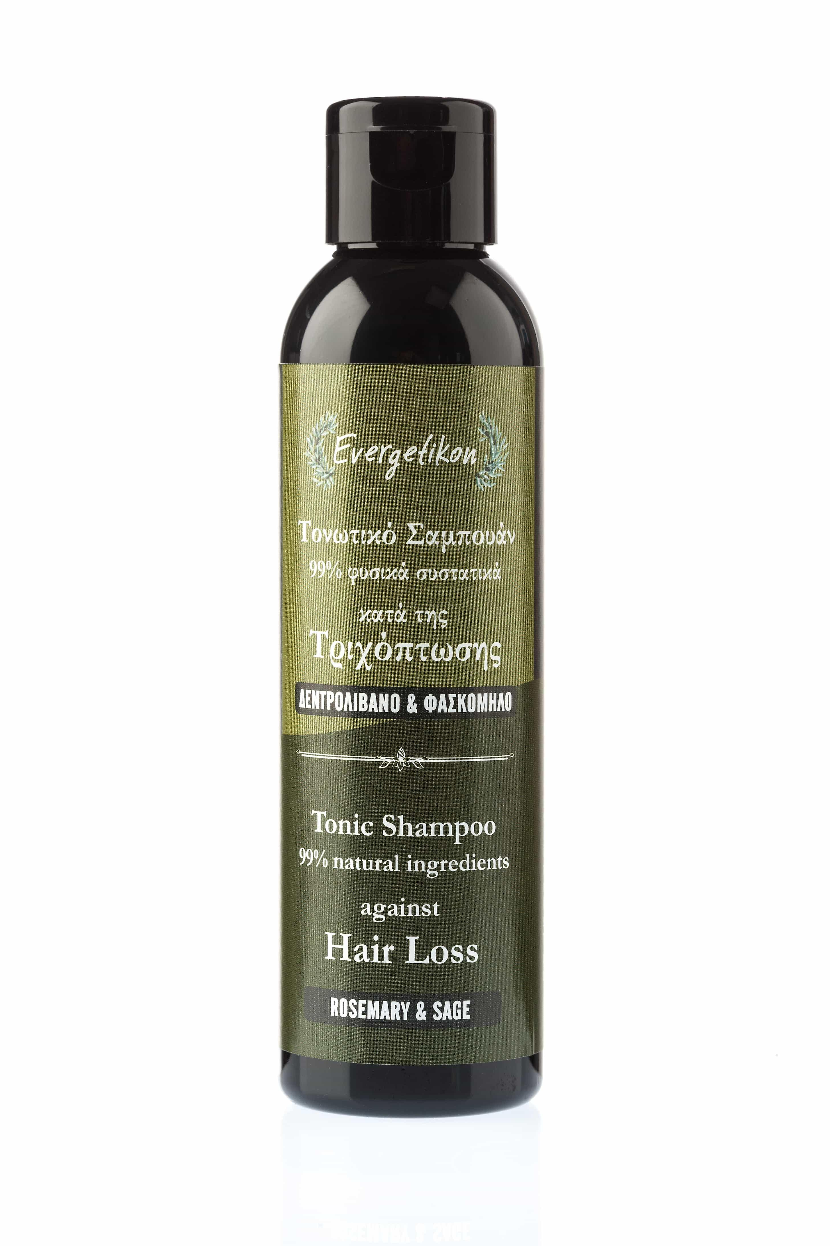 Tonic Shampoo against hair loss with rosemary and sage.