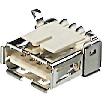 ASSMANN WSW A-USB A/SMT USB Installation Socket-SMD Socket, horizontal mount USB A