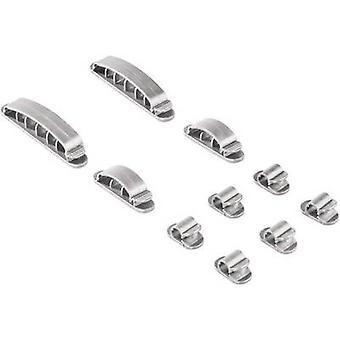 Hama Cable clips Plastic Silver 10 pc(s) 00020606