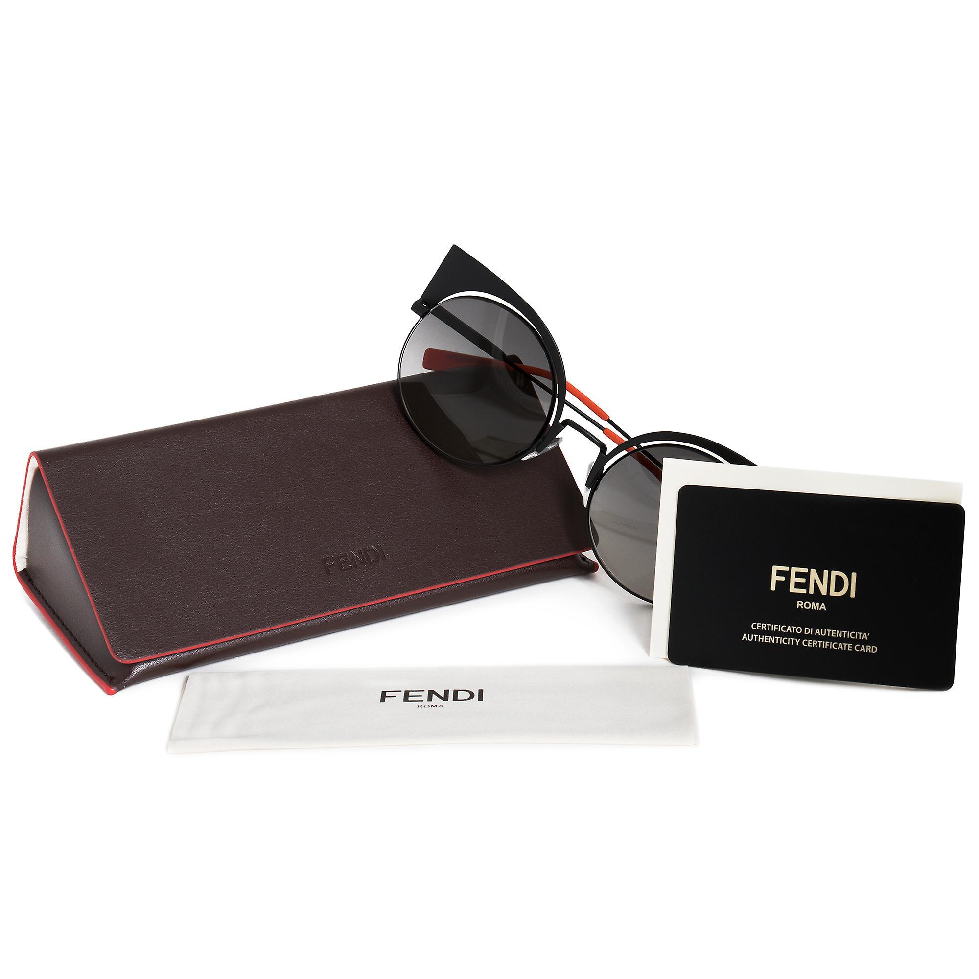 Fendi Eyeshine Cat Eye Sunglasses FF0177S 003 VK 53