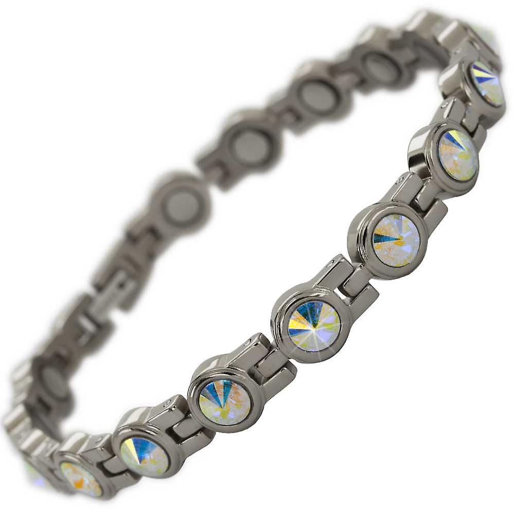 MPS® NORTHIA Titanium Magnetic Bracelet with shimmering Crystals + Resizing Tool