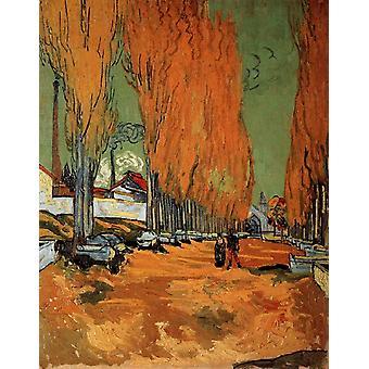 The Alyscamps,Avenue,Vincent Van Gogh,35x28cm
