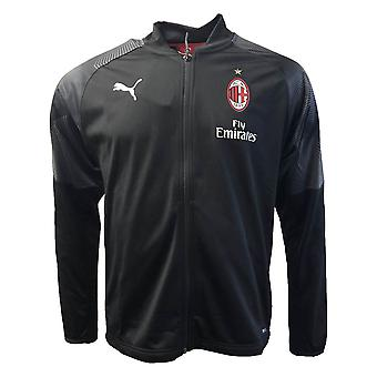 2018-2019 AC Milan Puma Poly Jacket (Black) - Kids