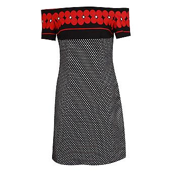 Frank Lyman Off Shoulder Polka Dot & Floral Dress