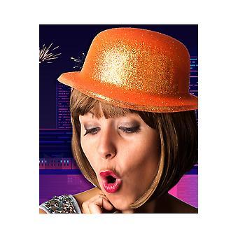 Brokat kapelusz kapelusze pomarańczowy melonik