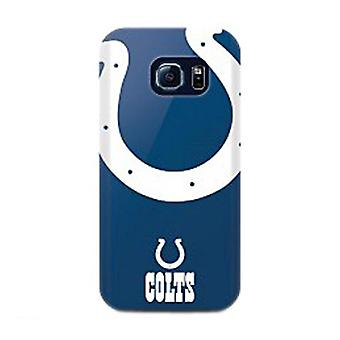 Mizco Sports NFL Oversized Snapback TPU Case for Samsung Galaxy S6 Edge (Indianapolis Colts)