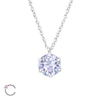 Runda crystal från Swarovski® - 925 Sterling Silver Halsband - W32722X