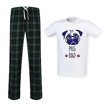 Mens PUG tata tartan Pyjama set