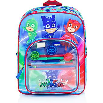 3in1 PJ Masks pyjamasheroes Junior backpack with accessories