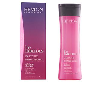 Revlon Be Fabulous Daily Care Normal Cream Shampoo 250ml New Unisex