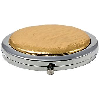Compact Round Make-Up Mirror Gold