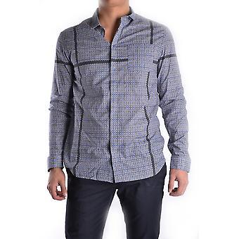 Balmain Ezbc005002 Mænd's Grå bomuldsskjorte