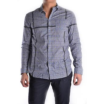 Balmain Ezbc005002 Men's Grey Cotton Shirt