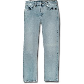 Volcom Solver lige fit jeans i Allover Stone Light