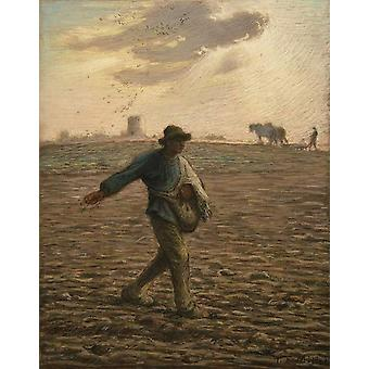 El sembrador, Jean Francois Millet, 30,8 x 24,5 cm