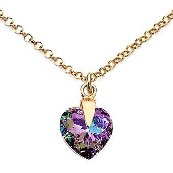 Ah Biżuteria Vitrail Light serca kryształ Swarovski