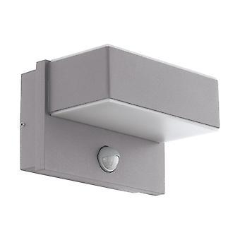 Eglo Azzinano Exterior PIR Wall Light In Silver