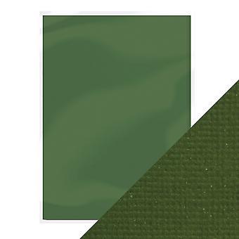 Craft perfecte A4 weven textuur kaart avocado Green Tonic Studios