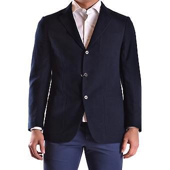 Cantarelli Ezbc290002 Men's Blue Cotton Blazer