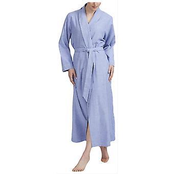 Boxers britânicos Staffordshire Herringbone robe de flanela-azul