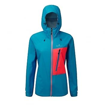 Ronhill Trail Torrent Womens Running Jacket Cyan/hot Pink