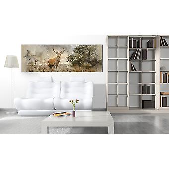Maalaus - Akvarelli Peura150x50