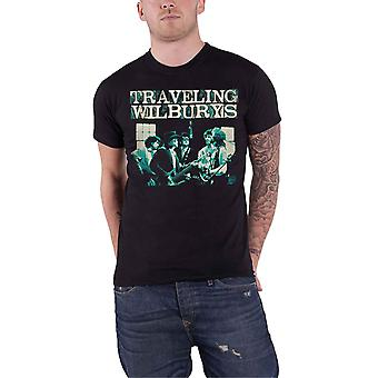 The Traveling Wilburys T Shirt Performing Band Logo new Official Mens Black