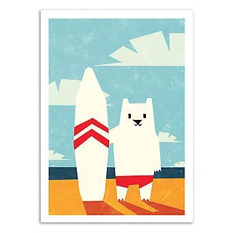 Art-Poster - Surf - Yetiland 50 x 70 cm