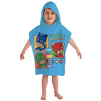 PJ masker Calling alla hjältar Hooded poncho handduk